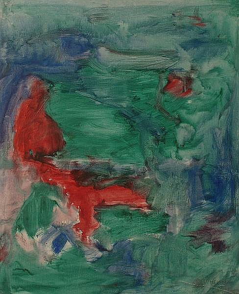 Gino Meloni (Italian, 1905-1989) signed and dated 1961 on canvas verso, oil on canvas, 73.5 x 60.5cm.
