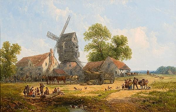 John Jr. Holland (British, 1830-1886) 'Outside the Malt Shovel'; and 'Outside the Windmill Inn' each 34 x 53cm (13 3/8 x 20 7/8in). (2)