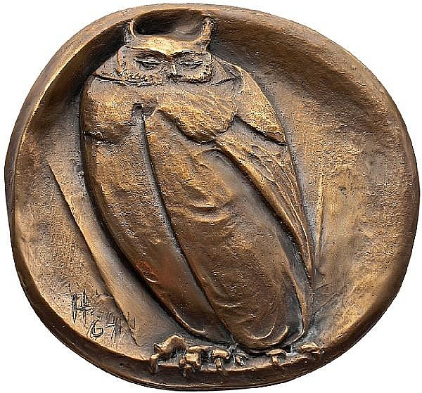 Dora de Pédery-Hunt, OC O.Ont RCA (Canadian, 1913-2008) The Great Owl