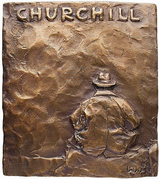 Dora de Pédery-Hunt, OC O.Ont RCA (Canadian, 1913-2008) Churchill Memorial Plaque, 1967