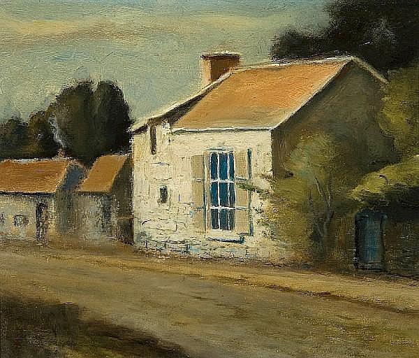 John A. Hammond, RCA, OSA (Canadian, 1843-1939) Francois Millet's Studio at Barbizon France