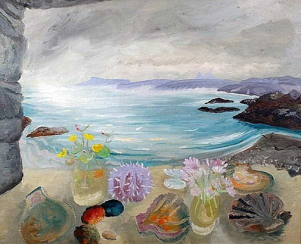 Winifred Nicholson (British, 1893-1981) Sea Treasures 60 x 76 cm. (23 1/2 x 30 in.)