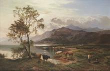Sidney Richard Percy (British, 1821-1886) A view near Barmouth, North Wales