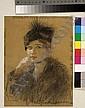 Thalia Flora-Caravia (Greek, 1871-1960) Lady with hat 26.5 x 19 cm., Thaleia Flora-Karavia, Click for value