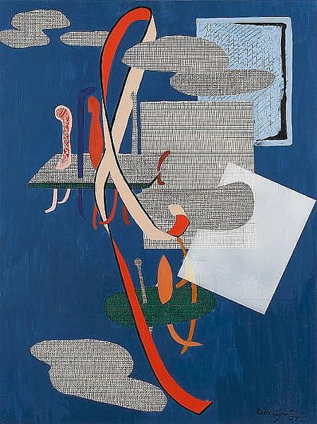 Renos Loizou (born 1948) Abstract 77.5 x 57 cm.