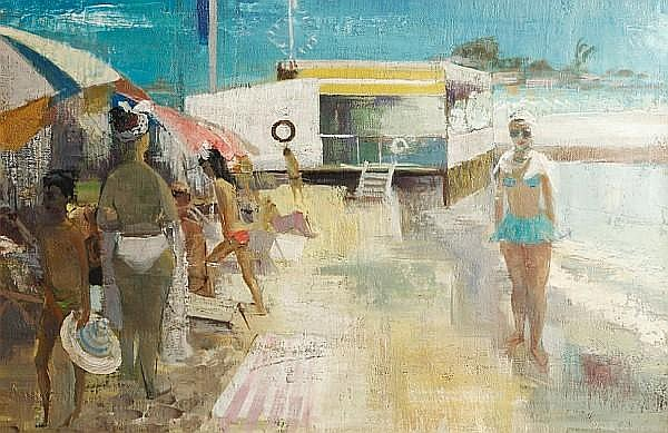 Leslie Cole (British, 1910-1976) Juan Les Pins