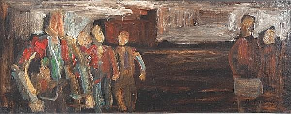 Bob Crossley (British, born 1912) Night Shift