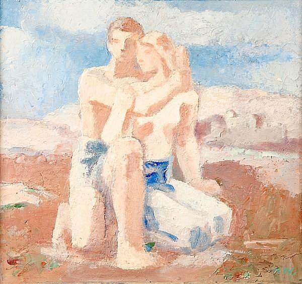 Karl Walser (Swiss, 1877-1943) Daphnis and Chloe