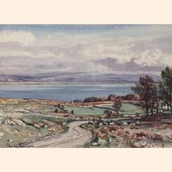Claude Grahame Muncaster, R.W.S., R.O.I., R.B.A., (British,1903-1974) Looking over Morecombe Bay to Lancaster