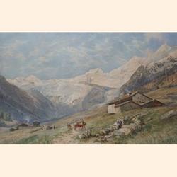Charles Jones Way, (British, 1834-1919) Saas-Fee, Valais, Switzerland