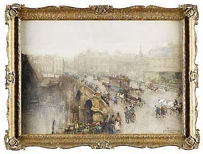 John Terris, RI RSW (British, 1865-1914) 'Broomielaw Bridge, Glasgow'