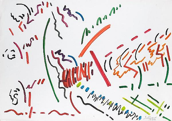 Yuri Zlotnikov (Russian, born 1930) Untitled composition #1