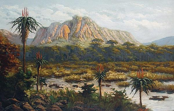 Giovanni Fasciotti (South African, 1883-1961) An African landscape