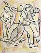 Elijah (Eli) Kobeli (South African, 1932-1999) Street musicians, Eli Kobeli, Click for value
