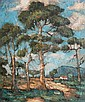 Nita (Pauline Augusta Wilhelmina) Spilhaus (South African, 1878-1967) Trees in summer, Nita Spilhaus, Click for value
