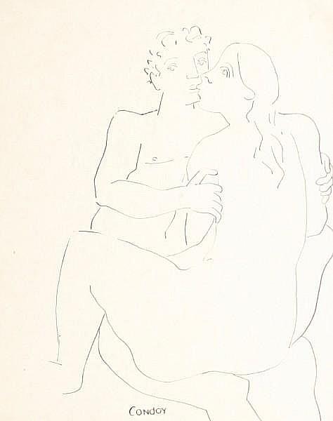 Honorio Garcia Condoy (Spanish, 1900-1953) 'Dos Figuras'