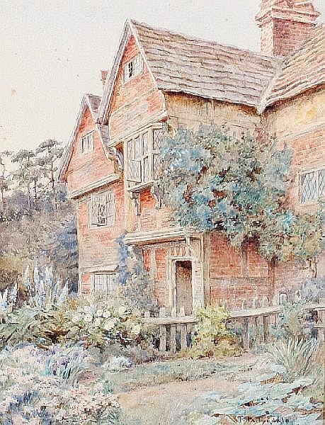 Thomas Nicholson Tyndale (British, 1860-1930) Surrey farmhouse; Bray, Berks; At West Meon, Hants each 24 x 18cm (9 7/16 x 7 1/16in), (3).