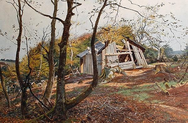 Carl Milton Jensen (Danish, 1855-1928) The broken hut