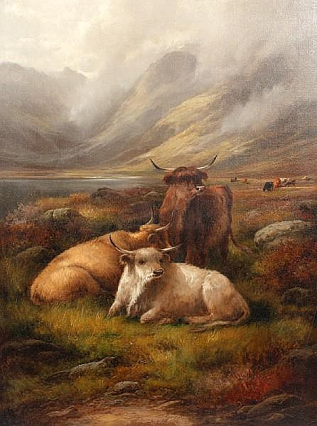 Morris John (19th Century, British) Highland Cattle, and another similar