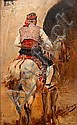 Joaquín Agrasot y Juan (Spanish, 1837-1919) A Picador on a grey horse, Joaquín Agrasot