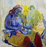 Amon Kotei (Ghanaian, 1915-2011) Mother and child