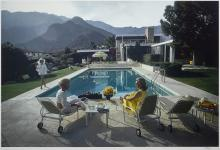 Slim Aarons (1916-2006); Poolside Glamour: Lita Baron, Nelda Linsk, and Helen Dzo Dzo, Palm Springs;