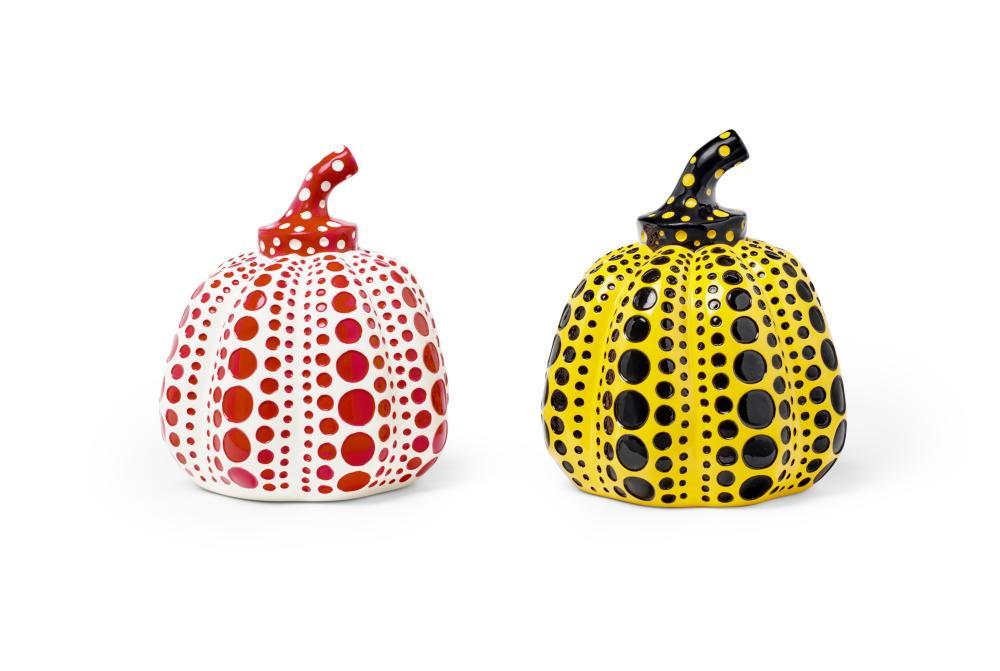 Yayoi Kusama (born 1929); Yellow Pumpkin & Red Pumpkin (2 works);