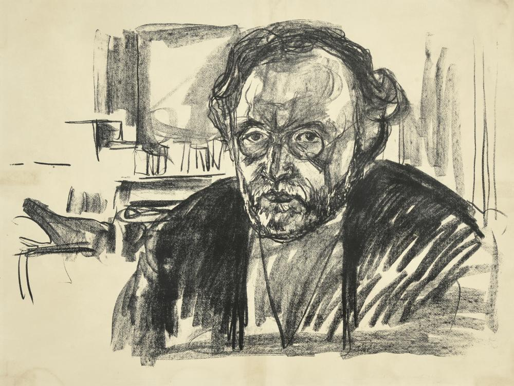 Edvard Munch (1863-1944); Self Portrait with Beard;