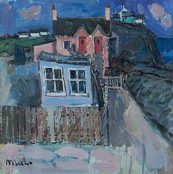 Donald Manson (British, 1948) By the Sea