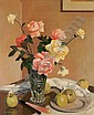 George Telfer Bear (British, 1876-1973) Mixed roses and fruit, George Telfer Bear, Click for value
