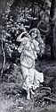 Eva Hollyer (British) Young maid before a blossom tree, Eva Hollyer, Click for value