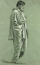 Sir Frank (Francis Bernard) Dicksee, PRA RI (British, 1853-1928) Study of a draped figure