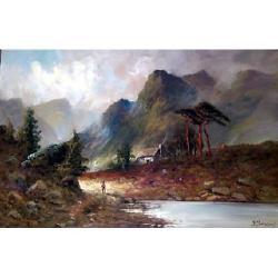 F E Jamieson Highland Landscapes, each 49.5 x 75cm (2)