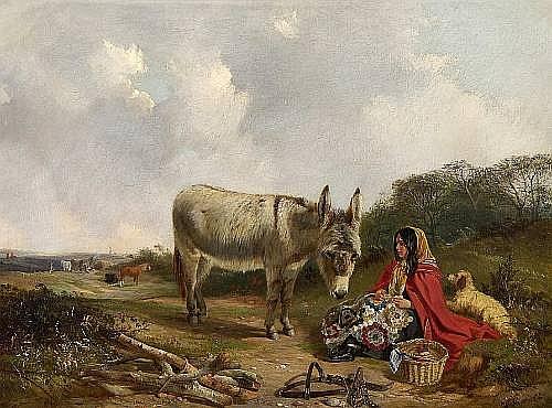 John Duvall (British, 1816-1892) The patchwork quilt