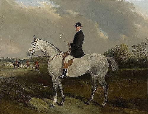John Duvall (British, 1816-1892) Major Frederick Barlow on his grey hunter