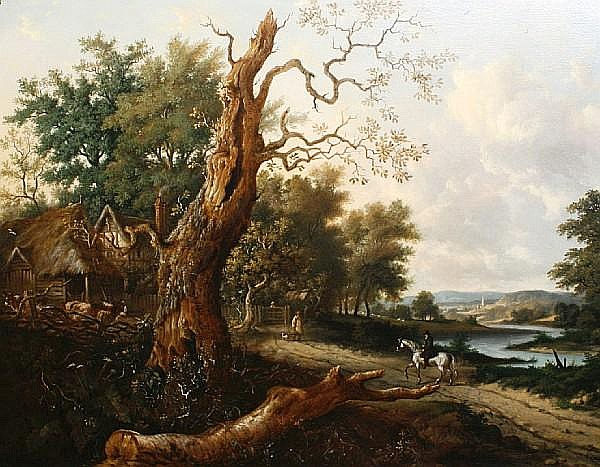 Henry Mayle, Sr. Whichelo (British, 1800-1884) Wood Farm near Godalming