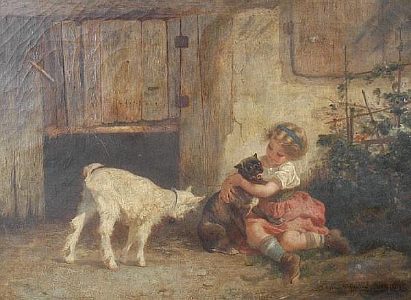 Anton Heinrich Dieffenbach (German, 1831-1914) Playmates
