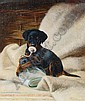 Edmund Caldwell (British, 1852-1930) Tea time for the puppy, Edmund G. Caldwell, Click for value