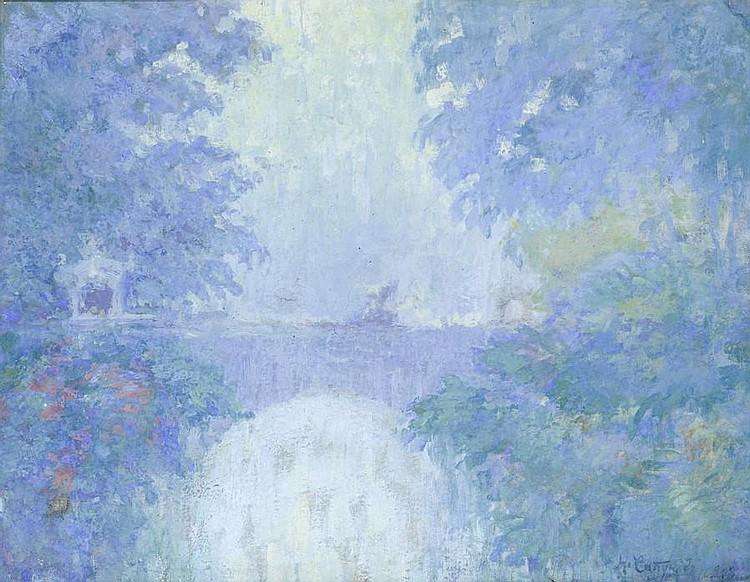 Nikolai Nikolaevich Sapunov (Russian, 1880-1912) Landscape of blue hues