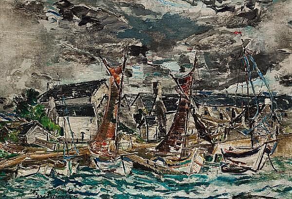Alexis Gritchenko (Russian, 1882-1976) Port Breton