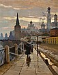 Mikhail Markianovitch Guermacheff (Russian, 1868-1930) A view of the Kremlin from the Moscow River embankment, Michail Markianovič Germašev, Click for value