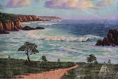 Maurice Meyer (American, born 1917) 'Afternoon, near Carmel' 58 x 88.5cm