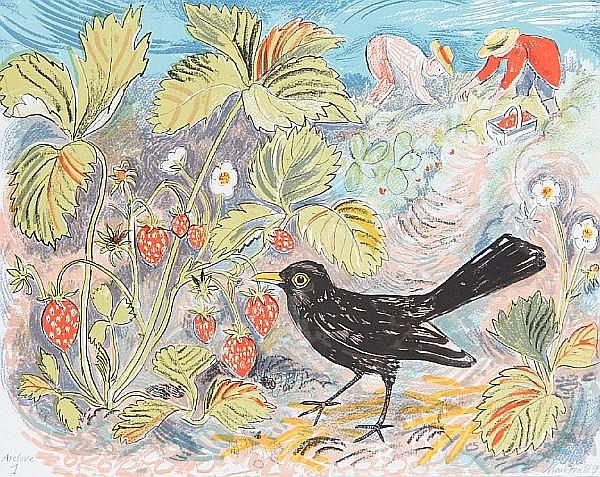 Mark Hearld (British, born 1974) A Collection Five lithographs in colours, 2010, on wove, each signed and inscribed 'curwen archive 1' in pencil, each a proof aside from the edition, with full margins, various sizes (unframed) (5)