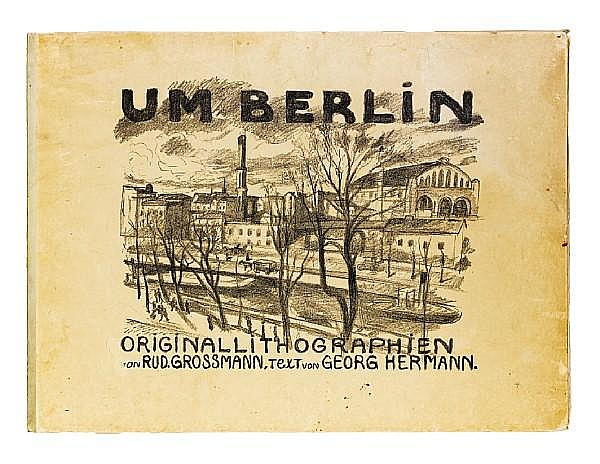 A Collection Rudolf Grossmann (German, 1882-1941) Um Berlin The portfolio, 1912, with the complete set of ten lithographs, published by Paul Cassier, Berlin; 490 x 670mm (19 1/4 x 26 1/4in)(SH). Together with two signed lithographs by Lovis Corinth