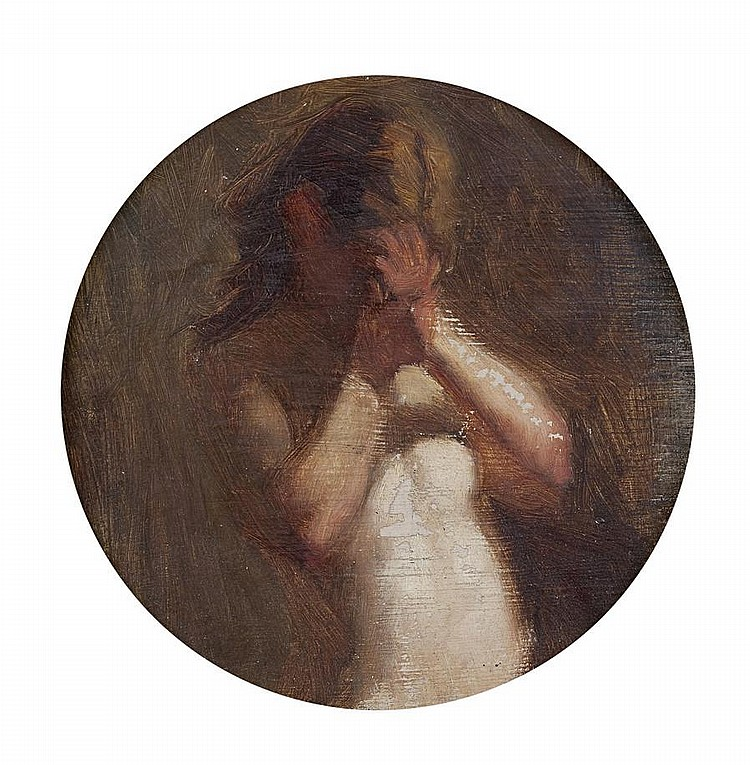 Attributed to George Manson (British, 1850-1876) Study of a girl