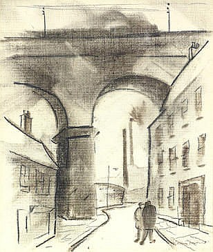 AR William Ralph Turner (British, 1920-2013)  'The Steps Hillgate'; 'Buildings and Viaduct'