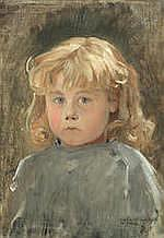 * JEAN-PAUL LAURENS (FRENCH, 1838-1921) Portrait of a child signed with monogram and