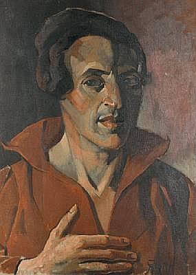 Armin Stern (German, born 1883) Portrait of a man, bust length