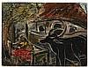 * SAILOZ MOOKHERJEA (INDIA, 1907-1960)  Village Scene, Sailoz Mookherjea, Click for value