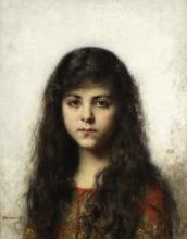 Alexei Alexeevich Harlamoff (Russian, 1840-1925) Contemplation
